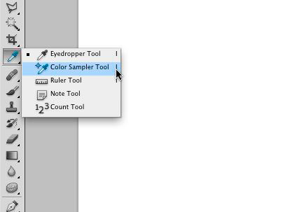 Selecting the Color Sampler Tool