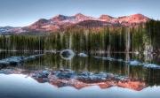 Evening alpenglow in the Sierra