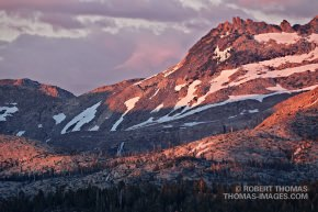 Alpenglow on Desolation Wilderness area