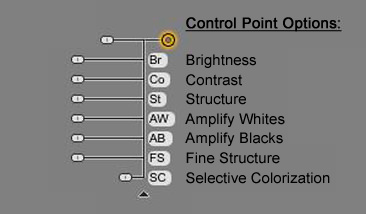 Description of Control Point Options