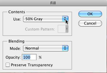 The Fill Dialog Box